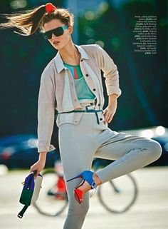 """""""Jump to It"""" Giedre Dukauskaite for Marie Claire UK June 2015"""