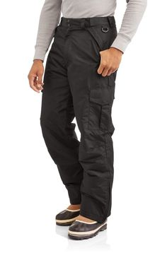 Swiss Tech Big Men's Insulated Ski Pants Snowboard Pants Black 2XL 3XL #SwissTech