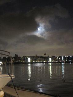 Moon over Marina del Rey