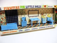 Doll Furniture, I remember these, the whole sets...