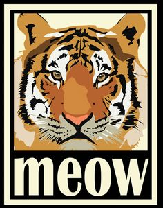 Feline Art Deco Poster Series on Behance