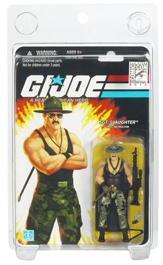 Sgt. Slaughter! Dudes toy was a lot more in shape than he was! LOL