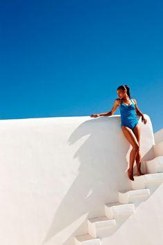 Photo shoot in luxury villa Aesara in Mykonos, Greece