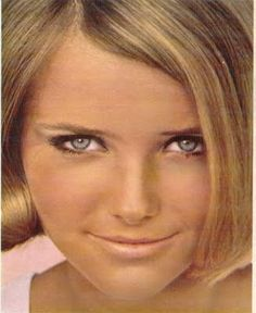 This is so my look- then and now!  Cheryl Tiegs, for Bonne Bell, 1969: Bonnie Bell was my favorite makeup.