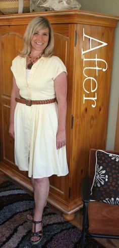DIY 1950s Shirt Dress Refashion Tutorial