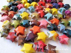 Upcycled Magazine Origami Stars