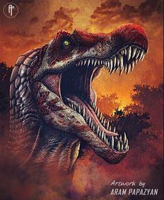 Jurassic Park 3, Jurassic World Dinosaurs, Dinosaur Images, Dinosaur Art, Spinosaurus, Michael Crichton, Game Ark Survival Evolved, Dinosaur Tattoos, Big Cats Art