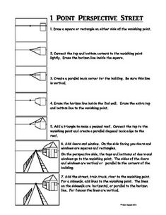 one point perspective directions sheet