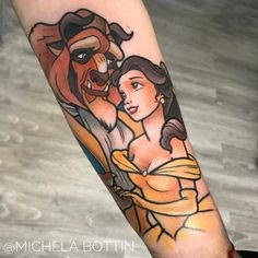 "5,656 Likes, 98 Comments - Michela Bottin Tattoo artist (@michelabottin) on Instagram: ""@korpus_domini_torino #disteytattoo #thebeautyandthebeast #thebeautyandthebeasttattoo #inkeddisney…"""