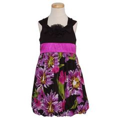 Bonnie Jean Fuchsia Floral Bubble Hem Girl Easter « Dress Adds Everyday