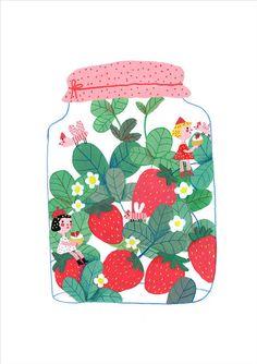Strawberry Drawing, Strawberry Art, O Cowboy, Posca Art, Cute Illustration, Aesthetic Art, Cartoon Art, Cute Drawings, Cute Art