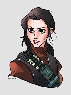 Bounty Hunter Princess Leia by Charles Tan