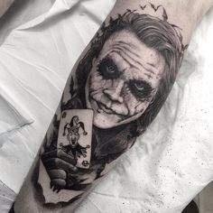 Joker by Chris (@ battleshipgrey) #joker #heathledger #batman #deadguyfromthatmovie #todiefortattoo