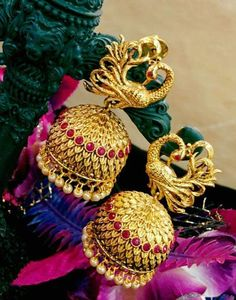 Exclusive Temple Earrings | Buy Online Temple Jumkas | South Indian Temple…