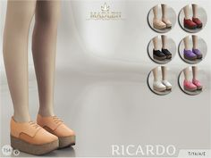 The Sims Resource: Madlen Ricardo Shoes by MJ95 • Sims 4 Downloads