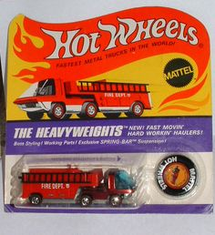 Learn everything there is to know about Hot Wheels at the hobbyDB database Custom Hot Wheels, Vintage Hot Wheels, Hot Wheels Cars, Toy Trucks, Fire Trucks, Matchbox Cars, Us Cars, Childhood Toys, Old Toys