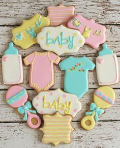 Baby Shower cookies from The Baked Equation! So cute!