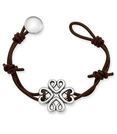 Bountiful Hearts Leather Bracelet   James Avery