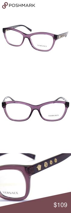 92d2daf50dfd New Ladies Purple Versace eyeglasses Size   54-16-140 Frame color  5029