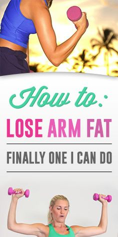 How To: Lose Arm Fat – Finally One I can Do Might not be my favorite person to listen too but seems like a good workout Body Fitness, Fitness Diet, Fitness Motivation, Health Fitness, Yoga Training, I Work Out, Get In Shape, Excercise, Stay Fit