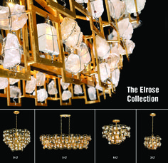 The Elrose Collection 5 Light Chandelier, 3 Light Pendant, Natural Stones, Bulb, Shapes, Create, Collection, House, Home