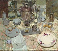 Натюрморт с зеркалом ,автор Долгая Ольга (Dolgaya Olga)