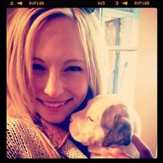 Candice with pup ♥♥