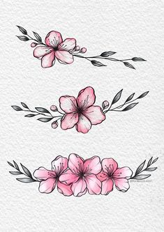 Art Drawings Sketches Simple, Flower Sketches, Pencil Art Drawings, Tattoo Sketches, Tattoo Drawings, Drawings Of Flowers, Cute Tattoos, Leg Tattoos, Flower Tattoos