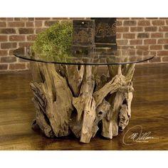 Mohall Driftwood Coffee Table #birchlane