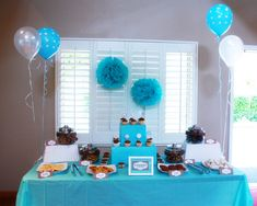"""Macdonald's Playland: Milk & Cookies Baby Shower! What a cute idea!! You have to check out the """"milk"""" mustaches. ;)"""