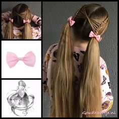 Criss crossed accent into pigtails with lovely bows from the webshop www.goudhaartje.nl (worldwide shipping). Hairstyle inspired by: @brownhairedbliss (instagram, Facebook) #pigtails #bow #hair #haar #vlecht #vlechten #lovelylook #hairstyle #braid #braids #hairstylesforgirls #beautifulhair #gorgeoushair #stunninghair #hairaccessories #hairinspo #braidideas #amazinghair #amazingbraids #hairfashion #stunningstyles #hairart #braidideas #longhairdontcare #goudhaartje