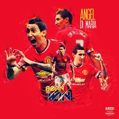 Angel Di Maria, Manchester United, MU, sport illustration, poster, graphic, social, design, football, illustration, media, AREDI, #sportaredi