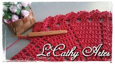 TAPETE EM CROCHÊ COM BICO DUPLO COM PASSO A PASSO  www.lecathyartes.blogspot.com