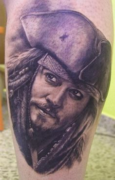 Jack Sparow Tattoo by Xavier Garcia Boix