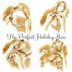 How To Make the Perfect Holiday Bow Classic Christmas Decorations, Christmas Love, Winter Christmas, All Things Christmas, Holiday Fun, Christmas Crafts, Festive, Xmas, Tie Bows With Ribbon