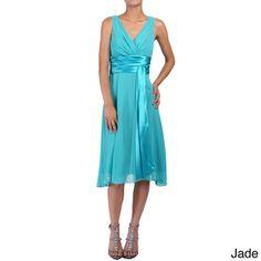 DFI Women's Short Empire-waist Evening Gown   Overstock™ Shopping - Top Rated Evening & Formal Dresses