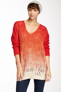 Sisters  Ombre Cable Knit Sweater