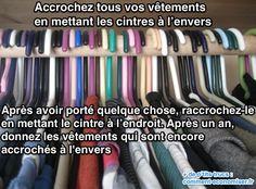On a tous ces vêtements dont on sait qu'on ne les porte plus, mais qu'on n'a pas vraiment envie de jeter, au cas où...  Découvrez l'astuce ici : http://www.comment-economiser.fr/astuce-infaillible-faire-tri-dans-vetements.html?utm_content=buffer5a823&utm_medium=social&utm_source=pinterest.com&utm_campaign=buffer
