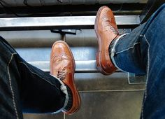 The Well Traveled Man Men's Shoes, Dress Shoes, Wingtip Shoes, Mens Fashion Shoes, Men's Fashion, Shoes With Jeans, Best Jeans, Gq, Oxford Shoes