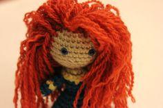 PATTERN Instant Download Merida Warrior Princess Brave Crochet Doll Amigurumi