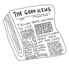Funny pictures about The good news you never read about. Oh, and cool pics about The good news you never read about. Also, The good news you never read about. The Words, Art And Illustration, No Bad Days, Make Me Happy, Happy Fun, Inspire Me, Good News, In This World, Inspirational Quotes