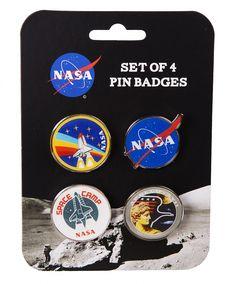 Set Of 4 Enamel NASA Badges : TruffleShuffle.com