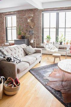 An Open and Industrial Loft in Brooklyn   Design*Sponge