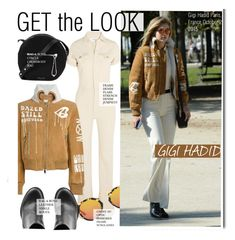 """Get The Look-Gigi Hadid"" by kusja ❤ liked on Polyvore featuring Frame Denim, Off-White, rag & bone, GetTheLook, PFW, celebstyle and gigihadid"