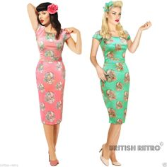 Details about PRASLIN VINTAGE 50'S RETRO ROCKABILLY SWING DRESS ...