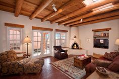 Private Homes, Historical Downtown Vacation Rental - VRBO 441972 - 1 BR Santa Fe House in NM, Authentic Southwest Elegance ~Walk to Plaza, Kiva Fireplaces & Mountain Views