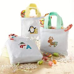 These adorable little gift bags from Lucie Heaton are just perfect for filling with sweet treats this Christmas