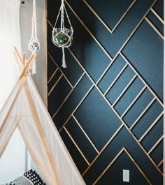 Stunning Accent Wall Ideas that anyone can do! Unique feature wall ideas including moulding walls, wallpaper, paint, sharpies, and more! Baby Room Wall Decor, Bedroom Wall, Baby Decor, Mirror Bedroom, Baby Bedroom, Kids Decor, Kids Bedroom, Bedroom Ideas, Bedroom Decor