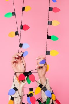 DIY Christmas light balloon garlands