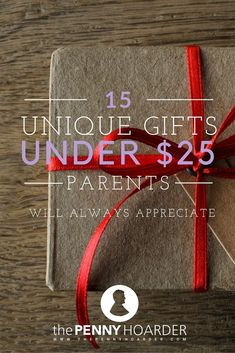 Parents work hard every day to provide for their kids. Whether they're your own or friends who just had a child, these 15 Christmas gifts for parents are sure to make them smile. - The Penny Hoarder http://www.thepennyhoarder.com/15-gifts-for-parents/